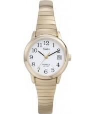 Timex T2H351 Mesdames or blanc montre lecteur facile
