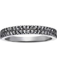FROST by NOA 145043-56 Mesdames plaqué rhodium anneau avec deux rangées de cz - taille p