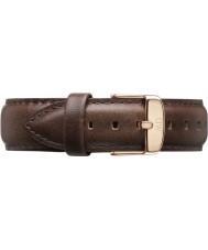 Daniel Wellington DW00200009 Mens classique bristol 40mm rose cuir marron bracelet de rechange or
