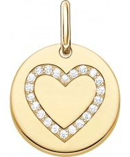 Thomas Sabo LBPE0005-414-14 Mesdames aiment plaqué pont en or jaune 18 carats pendentif