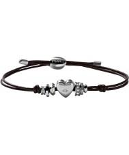 Fossil JF00116040 Mesdames motifs millésime bracelet en cuir noir