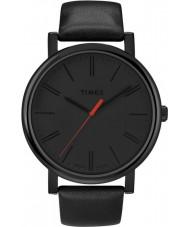 Timex T2N794 Mens noir montre ronde classique