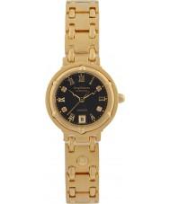 Krug-Baumen 5118DL Charleston 4 diamants cadran noir bracelet en or