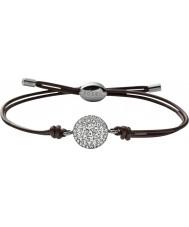 Fossil JF00117040 Mesdames paillettes cru bracelet cuir marron