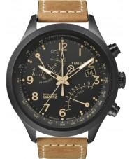 Timex T2N700 Mens noir tan fly-back montre chronographe