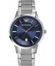 Emporio Armani AR2477 Mens bleu classique montre en argent
