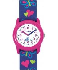 Timex T89001 Enfants papillons coeurs tissu élastique montre bracelet