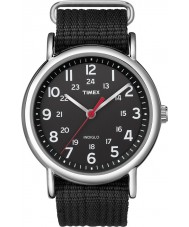 Timex T2N647 Mens tout weekender noir glisser à travers la montre
