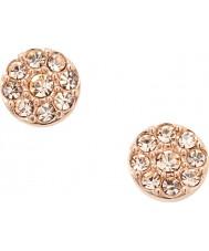Fossil JF00830791 Mesdames paillettes vintage rose boucles d'oreille en acier or