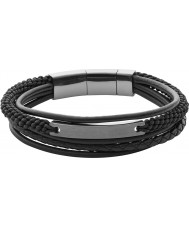 Fossil JF02378793 Mens bracelet noir en couches casual millésime