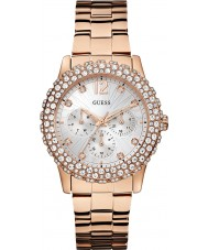 Guess W0335L3 dazzler dames plaqué or rose montre bracelet