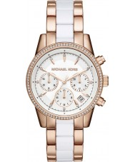 Michael Kors MK6324 Mesdames ritz rose et blanc montre chronographe