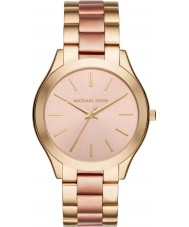 Michael Kors MK3493 Mesdames mince d'or de la piste et de rose montre bracelet