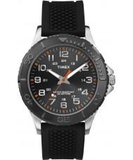 Timex TW2P87200 rue taft Mens silicone noir montre bracelet