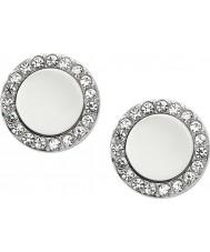 Fossil JF01791040 Ladies argent classique de boucles d'oreille en acier miroir