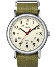 Timex T2N651 Mens weekender d'olive naturelle glisser à travers la montre