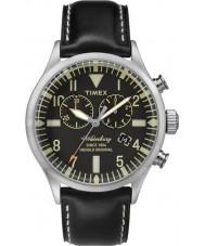Timex TW2P64900 patrimoine Mens cuir noir montre bracelet waterbury