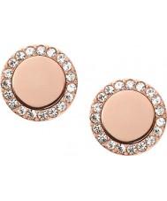 Fossil JF01792791 Mesdames classiques or rose boucles d'oreille en acier miroir