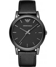 Emporio Armani AR1732 Mens cuir noir classique montre bracelet