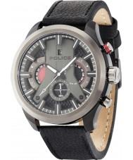 Police 14639JSBU-02 cyclone Mens cuir noir montre bracelet