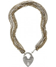 Fossil JA4726998 Mesdames or pvd collier plaqué