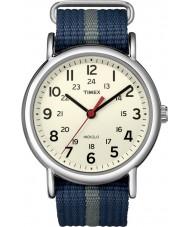 Timex T2N654 Mens bleu weekender gris glissement par la montre
