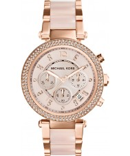 Michael Kors MK5896 Mesdames parker plaqué or rose montre chronographe