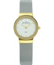 Skagen 358SGSCD Mesdames Klassik argent blanc montre de maille