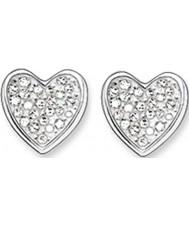 Thomas Sabo H1863-051-14 zircone dames ouvrent coeur stud boucles d'oreilles en argent