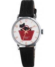 Radley RY2345 Mesdames border cuir noir et umber montre bracelet