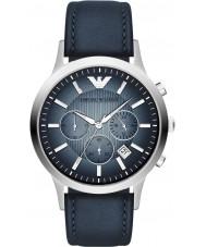 Emporio Armani AR2473 Mens classique chronographe argent montre bleu