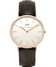Daniel Wellington DW00100011 Mens classique 40mm york montre en or rose