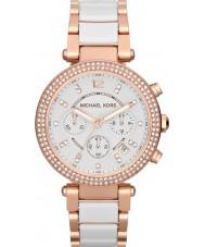 Michael Kors MK5774 Mesdames parker deux tons montre chronographe en céramique