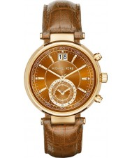 Michael Kors MK2424 Mesdames scieur chronographe whisky montre bracelet en cuir
