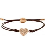 Fossil JF01153791 Ladies motifs vintage bracelet en cuir brun