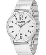 Police 14765JS-04M Mens Ecuyer argent montre bracelet en acier