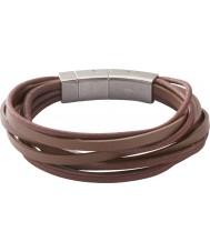 Fossil JF86202040 Mens multiples pellicule brune bracelet