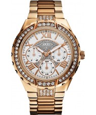 Guess W0111L3 Mesdames rose montre multifonction or