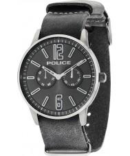 Police 14766JSU-61 Mens esquire x cuir gris montre bracelet