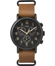 Timex TW2P97500 Weekender tan montre chronographe en cuir