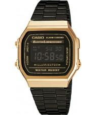 Casio A168WEGB-1BEF collection Mens acier noir montre bracelet