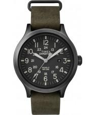 Timex TW4B06700 Mens scout vert montre bracelet en cuir