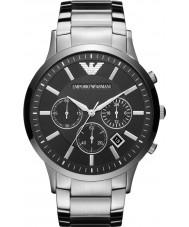 Emporio Armani AR2460 Mens chronographe classique montre en argent noir