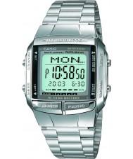 Casio DB-360N-1AEF collection Mens bracelet en acier montre d'argent avec Télémémo