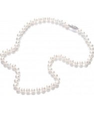 Purity 925 PUR6145 Mesdames blanc perle collier 45cm