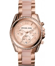 Michael Kors MK5943 Mesdames blair plaqué or rose montre chronographe