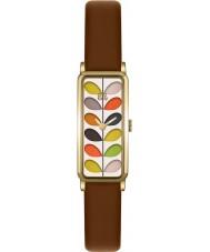 Orla Kiely OK2104 Mesdames tige impression cuir beige montre bracelet