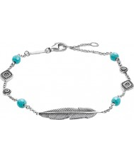 Thomas Sabo A1477-646-17-L19-5v Mesdames argent dreamcatcher ethno plume bracelet
