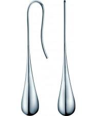 Calvin Klein KJ3QME000100 Mesdames ellipse boucles d'oreilles en acier argent