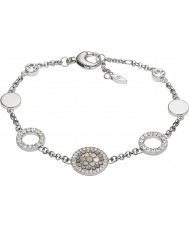 Fossil JF02311040 Mesdames paillettes millésime bracelet en acier d'argent